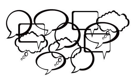 Speech And Thought Bubbles design Vector