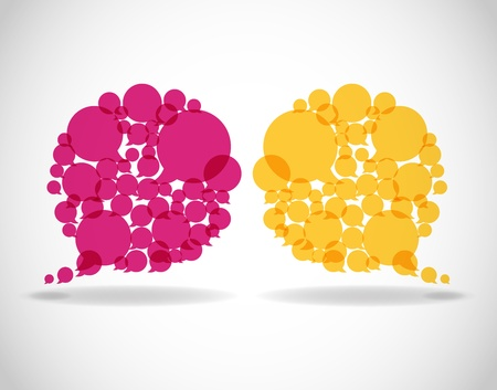 communication talk: dialog bubbles vector_2
