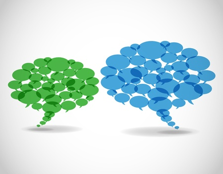 chat bubbles: Abstract business speech bubbles.