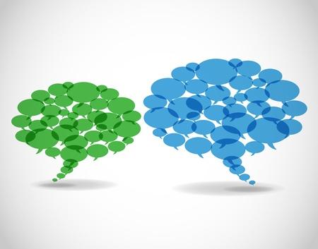 dialogo: Resumen burbujas de negocios de habla. Vectores
