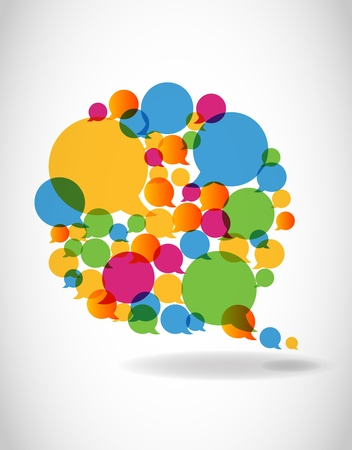 色で話すスピーチの泡の社会的なメディア