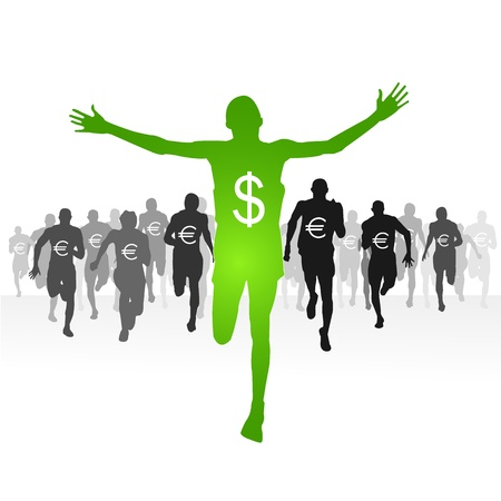 Dollar-Finishing line Vector