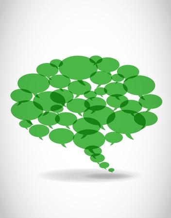 message box: Vector speech bubbles.