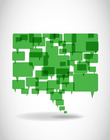 мысль: Go Green слова и мысли пузыри