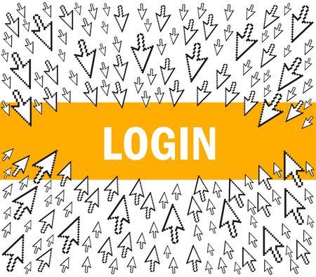 login Stock Vector - 11660337