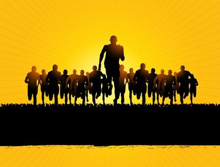 maratón: běžci maratónu
