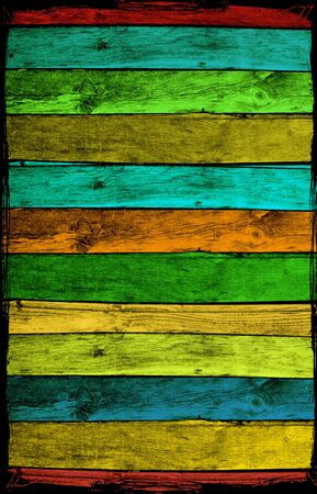 Colorful Wood Planks photo