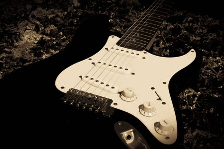 black electric guitar photo