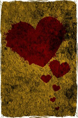 Grunge hearts background photo