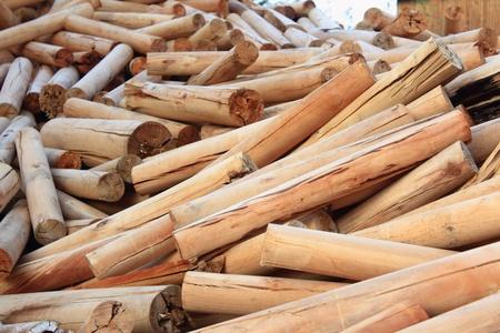 rural development: Stack of Logs