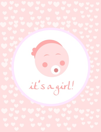 birth announcement: Baby arrival announcement card