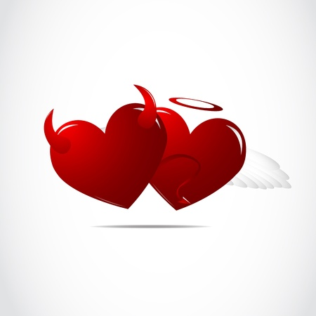 Heart of good and evil Vector