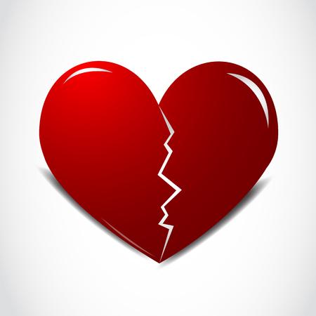 Rojo corazón roto