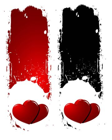 Grunge Love Hearts Backgrounds Vector