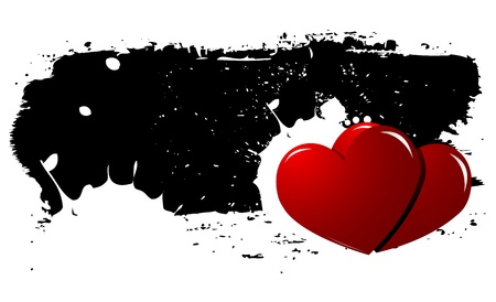 Grunge Heart vector Background Vector