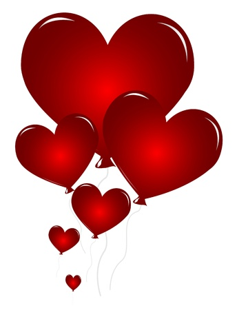 Heart shaped balloons Vector
