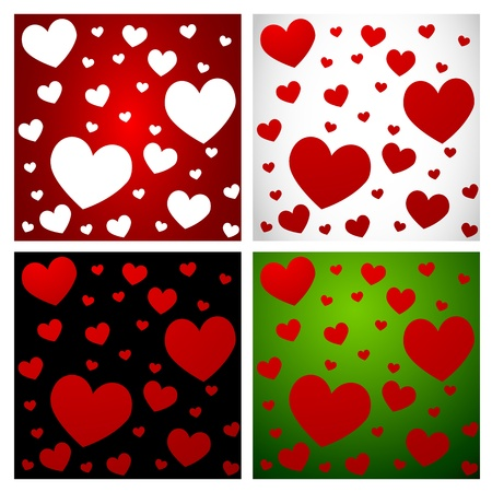 Hearts- Love pattern set-1 Vector