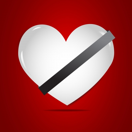 Belt up, safety heart illustration Vector