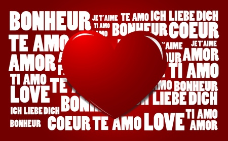 Love word cloud, abstract love background  Vector