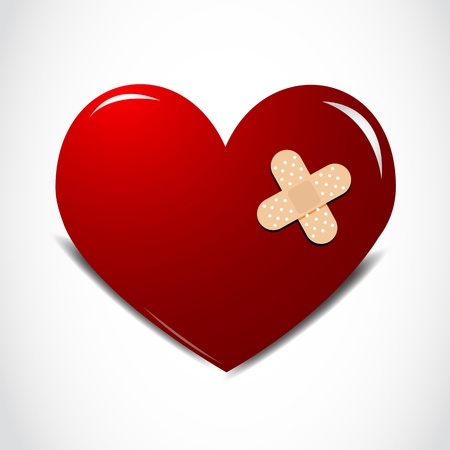 Heart with a plaster Vector