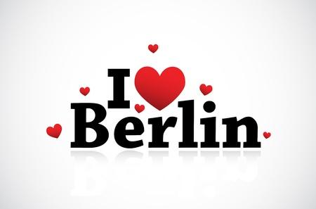 berlin: I Love Berlin icon Illustration