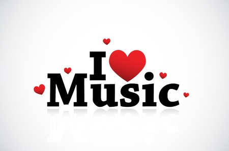 grunge music background: Music Love illustration Illustration