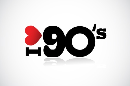 nineties: I Love 90s illustration