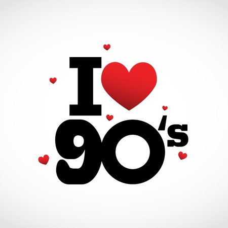 90: I Love 90s illustration