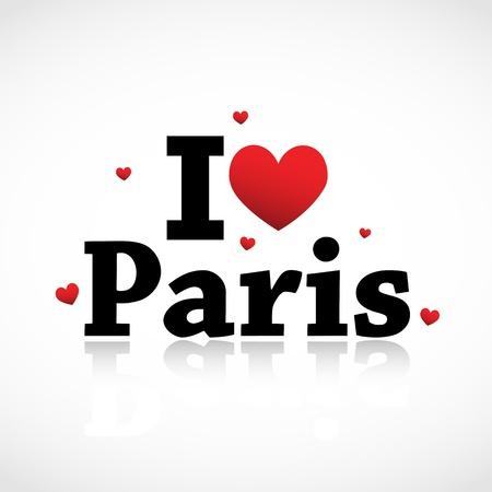 파리, 나는 당신이 그림을 사랑 해요 일러스트