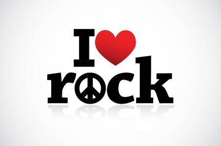 I Love Rock Stock Vector - 11849384