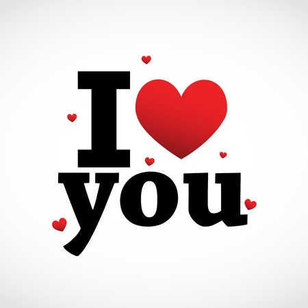 I Love you Stock Vector - 11849268