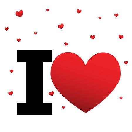 new love: I Love... Illustration