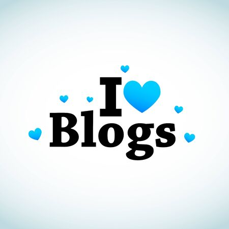 I Love Social Media Blogs Vector