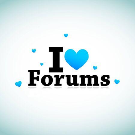 I Love Social Media Forums Stock Vector - 11849290