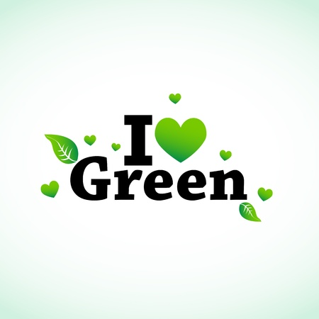 I Love Green Stock Vector - 11849286