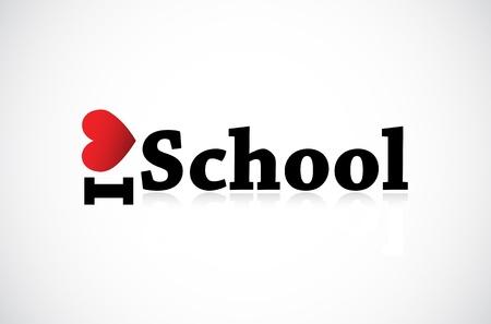 I Love School Stock Vector - 11849379