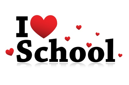 I Love School icon Stok Fotoğraf - 11849388