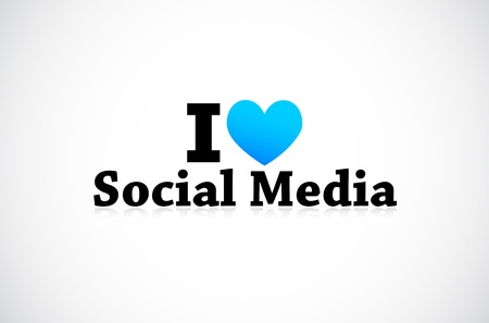 I Love Social Media Stock Vector - 11849392