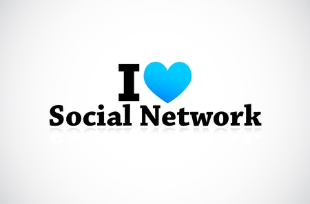 I Love Social Media Network Stock Vector - 11849394