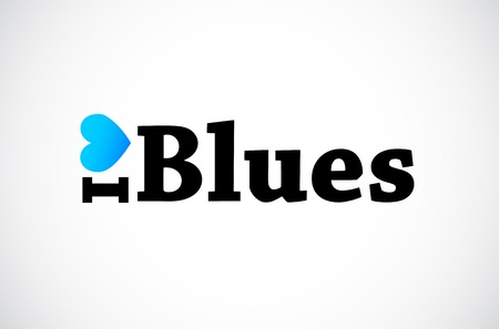 I Love Blues Vector