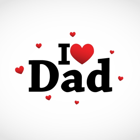 fathers day background: I love Dad icon.