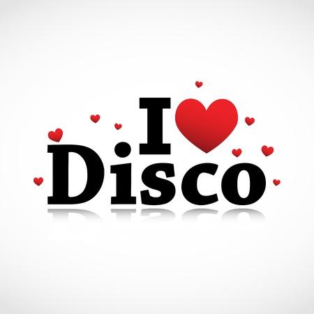 stylish couple: I Love Disco icon