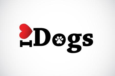 patas de perros: Me encanta icono de perros.