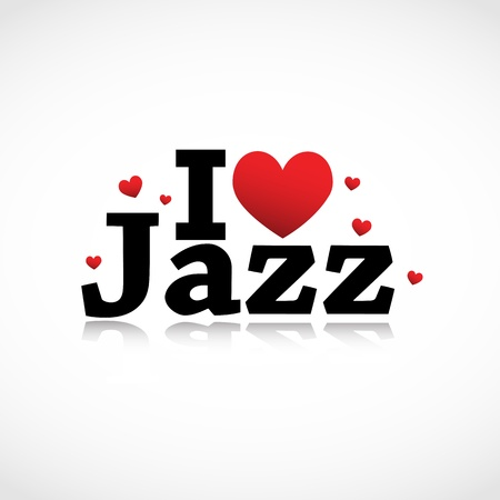 I Love Jazz icon Vector