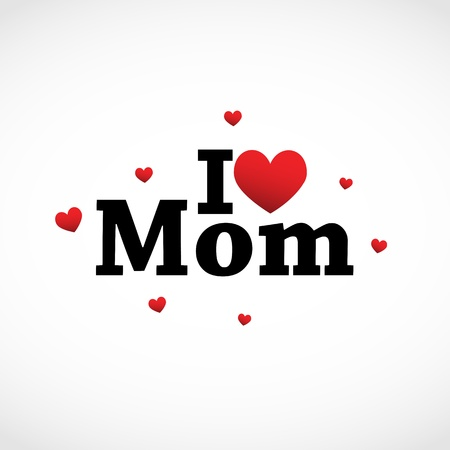 I love Mom icon Illustration