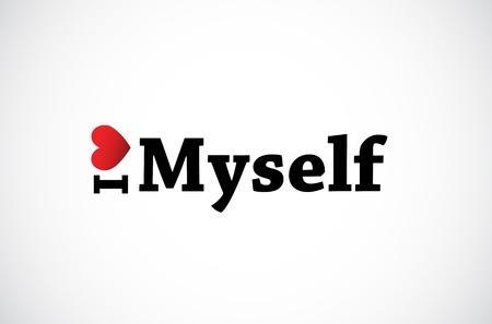 I Love Myself Stock Vector - 11849292