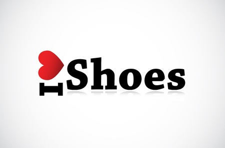 I Love Shoes icon. Vector