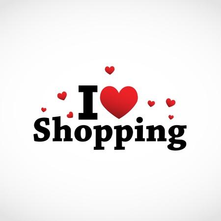 shoppen: Ich liebe Warenkorb-Symbol.
