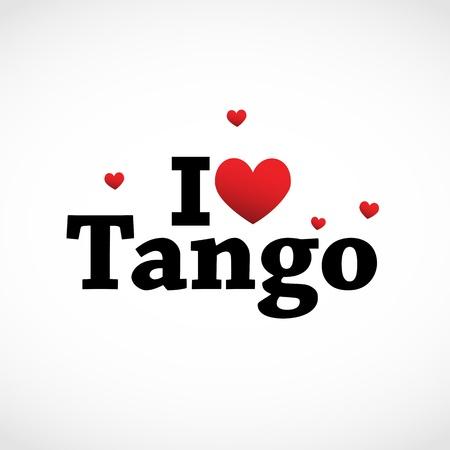 Amo el icono del tango. Foto de archivo - 11849395
