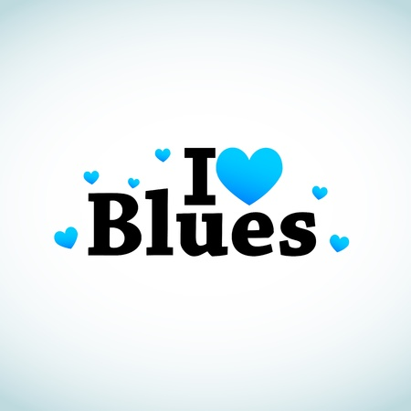 I Love Blues Music. Vector